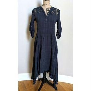 Gypsy 05 Global Village Dress Navy Blue Cotton